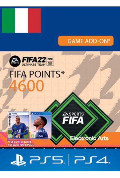 FIFA 22 - 4600 FUT Points (Italy) (PS4 / PS5)