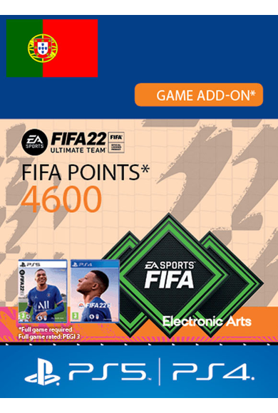 FIFA 22 - 4600 FUT Points (Portugal) (PS4 / PS5)