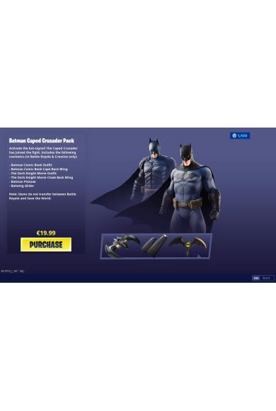 Fortnite - Batman Caped Crusader Pack (DLC) (Xbox One)