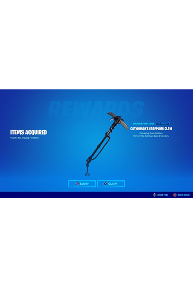 Fortnite - Catwoman's Grappling Claw Pickaxe (DLC)