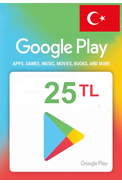 Google Play 25 (TL) (Western Asia) Gift Card