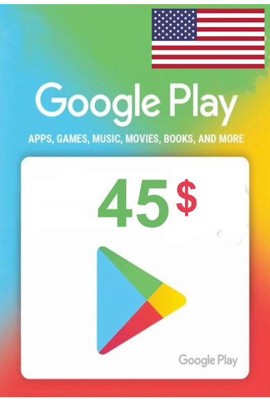 Google Play $45 (USD) (USA/North America) Gift Card