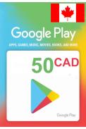 Google Play 50 (CAD) (Canada) Gift Card