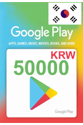 Google Play 50000 (KRW) (Korea) Gift Card