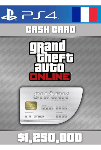 Grand Theft Auto Online: Great White Shark Card GTA Online - GTA V (5) (France) (PS4)