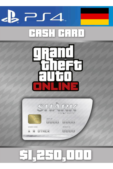 Grand Theft Auto Online: Great White Shark Card GTA Online - GTA V (5) (Germany) (PS4)