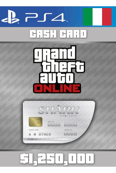 Grand Theft Auto Online: Great White Shark Card GTA Online - GTA V (5) (Italy) (PS4)