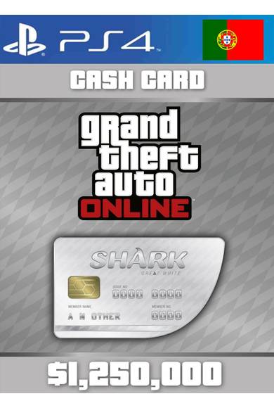 Grand Theft Auto Online: Great White Shark Card GTA Online - GTA V (5) (Portugal) (PS4)