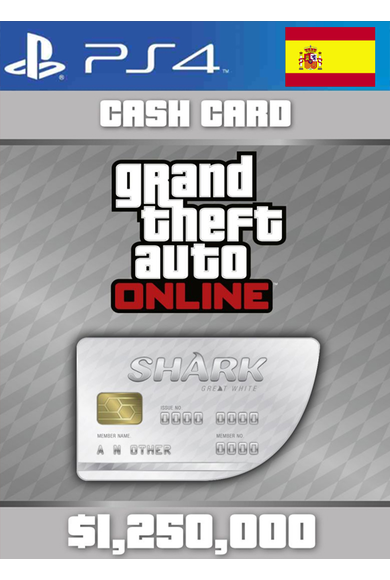 Grand Theft Auto Online: Great White Shark Card GTA Online - GTA V (5) (Spain) (PS4)