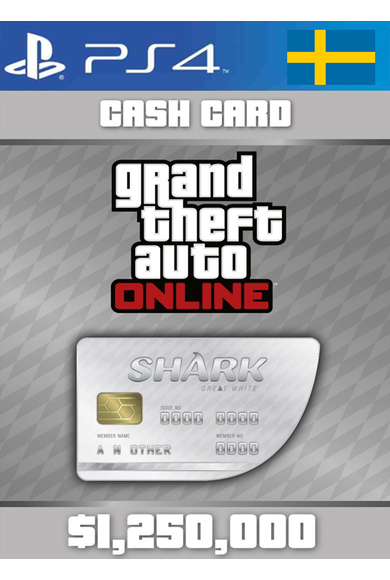 Grand Theft Auto Online: Great White Shark Card GTA Online - GTA V (5) (Sweden) (PS4)