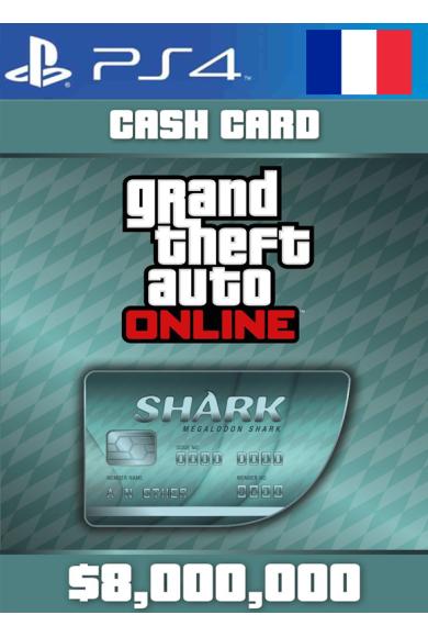Grand Theft Auto Online: Megalodon Shark Card GTA Online - GTA V (5) (France) (PS4)