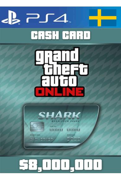 Grand Theft Auto Online: Megalodon Shark Card GTA Online - GTA V (5) (Sweden) (PS4)