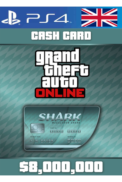 Grand Theft Auto Online: Megalodon Shark Card GTA Online - GTA V (5) (UK - United Kingdom) (PS4)