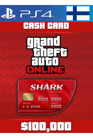 Grand Theft Auto Online: Red Shark Cash Card - GTA V (5) (Finland) (PS4)