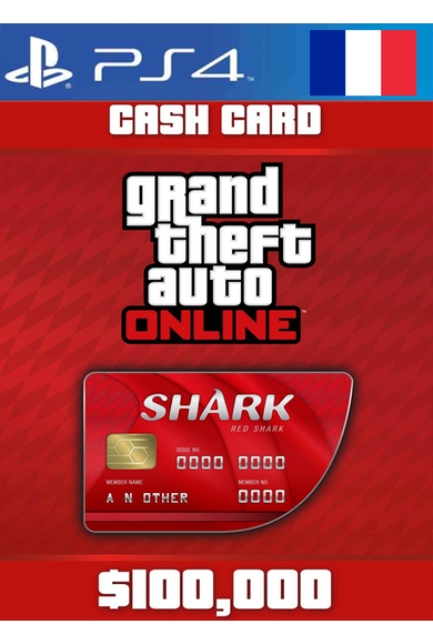 Grand Theft Auto Online: Red Shark Cash Card - GTA V (5) (France) (PS4)