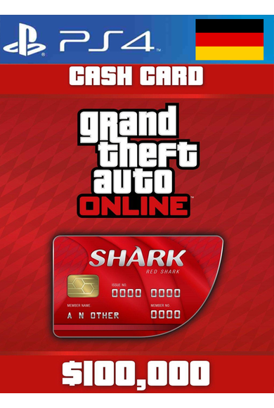 Grand Theft Auto Online: Red Shark Cash Card - GTA V (5) (Germany) (PS4)