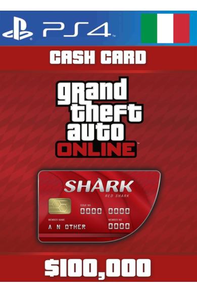 Grand Theft Auto Online: Red Shark Cash Card - GTA V (5) (Italy) (PS4)
