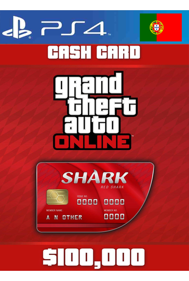 Grand Theft Auto Online: Red Shark Cash Card - GTA V (5) (Portugal) (PS4)