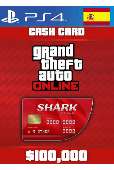 Grand Theft Auto Online: Red Shark Cash Card - GTA V (5) (Spain) (PS4)