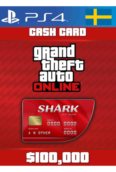 Grand Theft Auto Online: Red Shark Cash Card - GTA V (5) (Sweden) (PS4)
