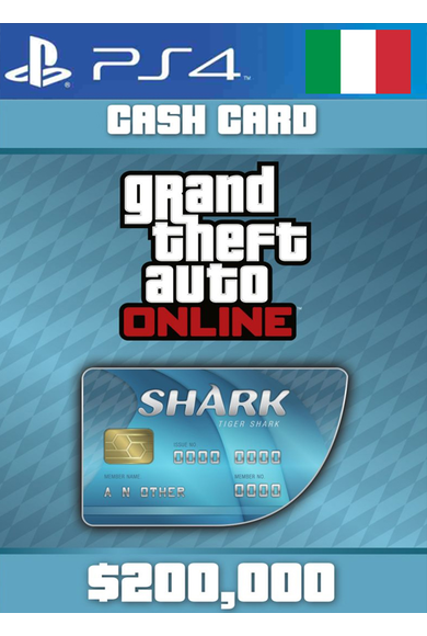 Grand Theft Auto Online: Tiger Shark Card GTA Online - GTA V (5) (Italy) (PS4)
