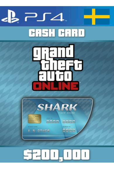 Grand Theft Auto Online: Tiger Shark Card GTA Online - GTA V (5) (Sweden) (PS4)