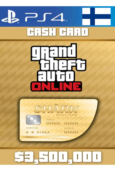 Grand Theft Auto Online: Whale Shark Card GTA Online - GTA V (5) (Finland) (PS4)