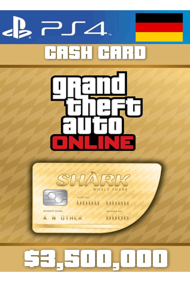 Grand Theft Auto Online: Whale Shark Card GTA Online - GTA V (5) (Germany) (PS4)