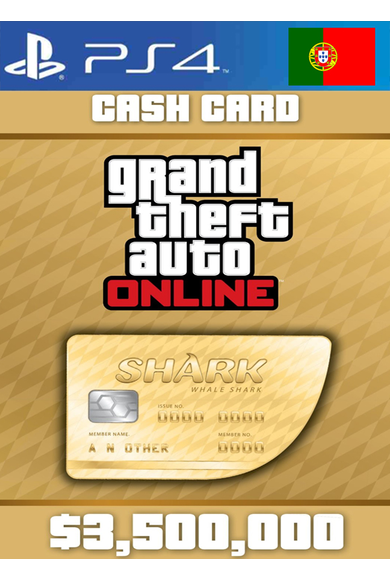 Grand Theft Auto Online: Whale Shark Card GTA Online - GTA V (5) (Portugal) (PS4)