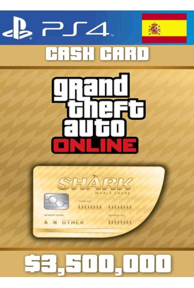 Grand Theft Auto Online: Whale Shark Card GTA Online - GTA V (5) (Spain) (PS4)