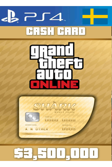 Grand Theft Auto Online: Whale Shark Card GTA Online - GTA V (5) (Sweden) (PS4)