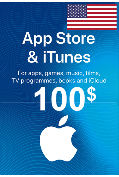 Apple iTunes Gift Card - $100 (USD) (USA/North America) App Store