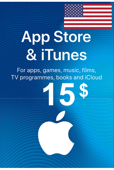 Apple iTunes Gift Card - $15 (USD) (USA/North America) App Store