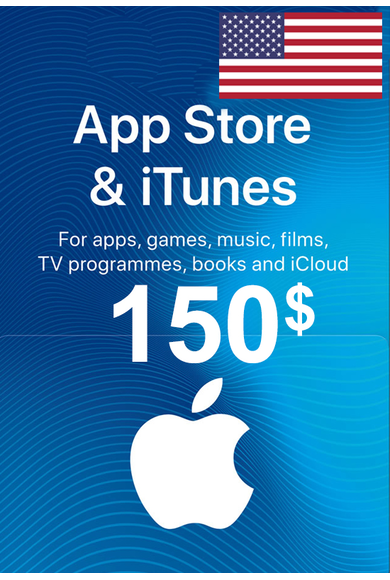 Apple iTunes Gift Card - $150 (USD) (USA/North America) App Store