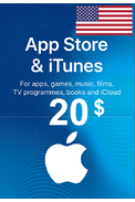 Apple iTunes Gift Card - $20 (USD) (USA/North America) App Store