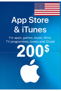 Apple iTunes Gift Card - $200 (USD) (USA/North America) App Store