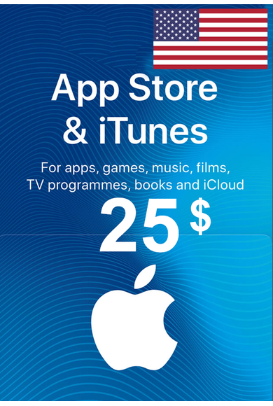 Apple iTunes Gift Card - $25 (USD) (USA/North America) App Store