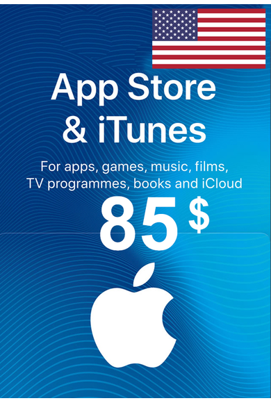 Apple iTunes Gift Card - $85 (USD) (USA/North America) App Store