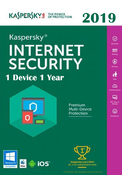 Kaspersky Internet Security 2019 - 1 Device 1 Year