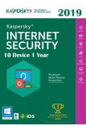 Kaspersky Internet Security 2019 - 10 Device 1 Year