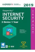 Kaspersky Internet Security 2019 - 3 Device 1 Year