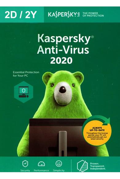 Kaspersky Antivirus 2020 - 2 Device 2 Year