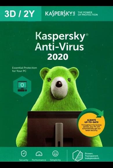 Kaspersky Antivirus 2020 - 3 Device 2 Year