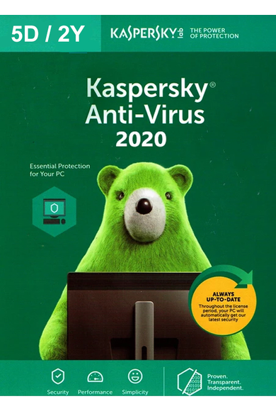 Kaspersky Antivirus 2020 - 5 Device 2 Year
