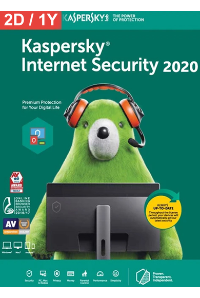 Kaspersky Internet Security 2020 - 2 Device 1 Year