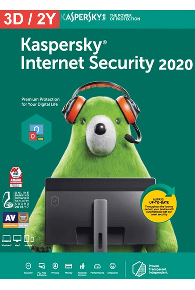 Kaspersky Internet Security 2020 - 3 Device 2 Year