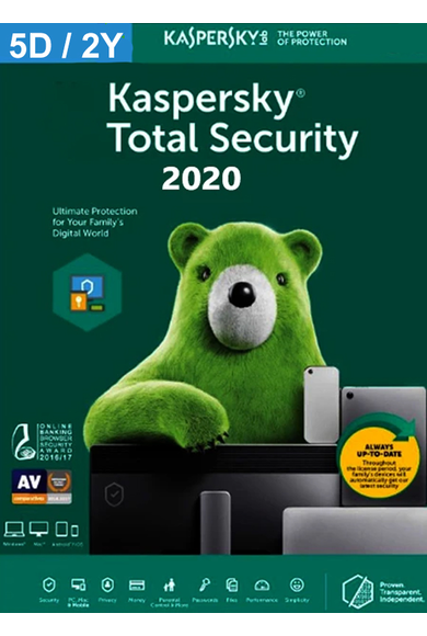 Kaspersky Total Security 2020 - 5 Device 2 Year