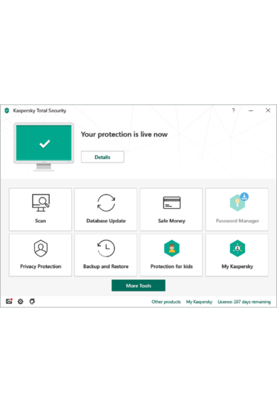 Kaspersky Total Security 2020 - 2 Device 1 Year