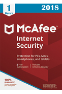 McAfee Internet Security 2018 - 1 Device 5 Years