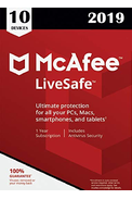 McAfee LiveSafe - Unlimited Devices (10 devices) 1 Year